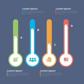 Colorful slider infographics for Business.