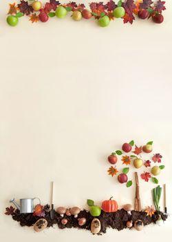 Autumn garden frame