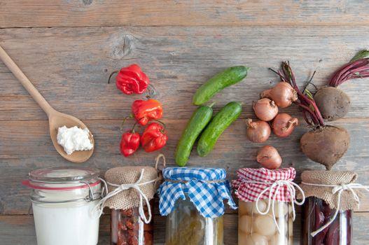 Homemade fermented foods