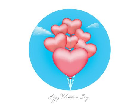 Glossy Red Heart shaped Balloons for Happy Valentine's Day Celebration.