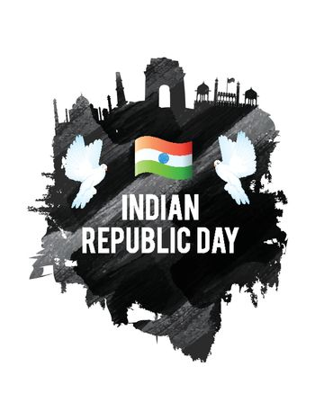 Historical Monuments for Republic Day.