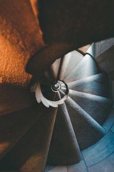 Vintage spiral stair