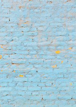 Light blue brick wall texture, vertical background