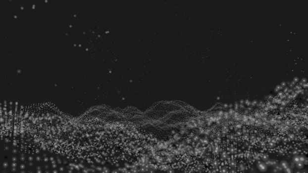 Abstract digital background with particles