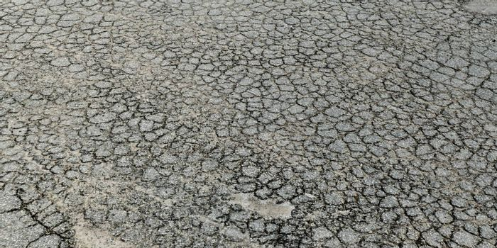 crumbled asphalt texture close up 3d illustration