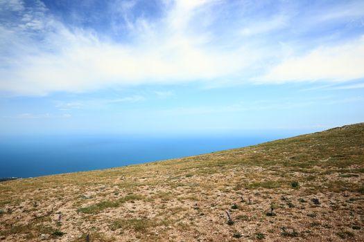 View to Black sea horizon