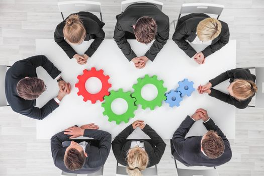 Business team cooperation concept