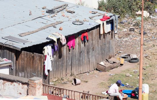 Laundry day in Antananarivo, Madagascar