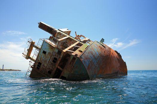 shipwreck in the Black sea