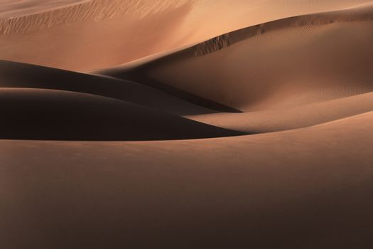 Desert landscape, beautiful sandy hills of Liwa in Abu Dhabi, nature of middle east, abstract natural background