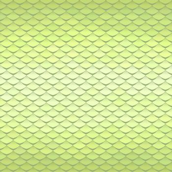 Abstract scale pattern. Roof tiles background. Light green squama texture