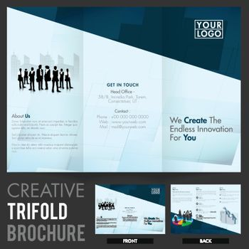 Tri-Fold Brochure, Template design for Business.
