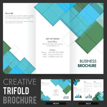 Tri-Fold Brochure, Template with abstract design.