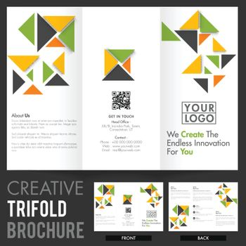 Abstract Tri-Fold Brochure, Template for Business.