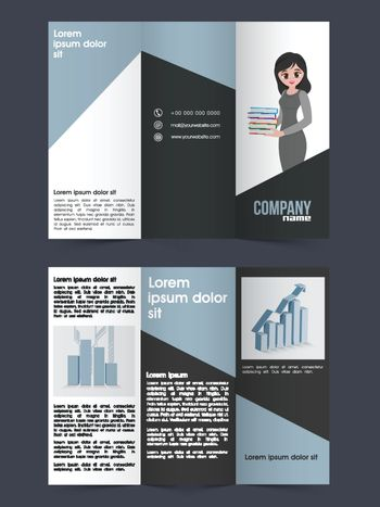 Tri-Fold Brochure, Template for Business.