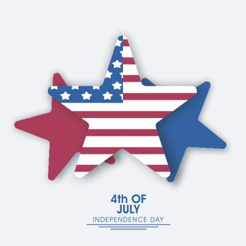 American Flag color stars for 4th of July, Independence Day celebration.