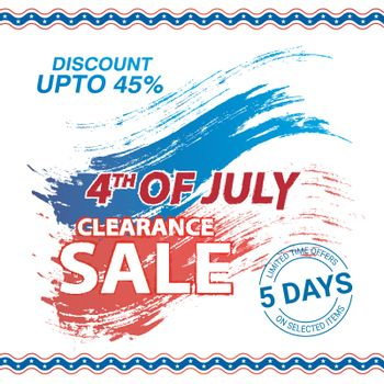 4th July Clearance Sale poster, banner design.