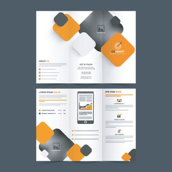 Abstract Tri-Fold Brochure for Business.