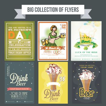 Beer Party flyers or template design.