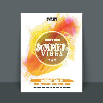 Summer Vibes Template, Banner or Flyer design.