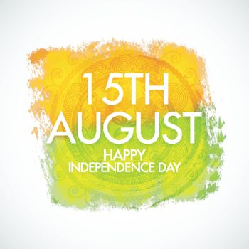 15th August, Happy Independence Day celebration background with floral design decoration.