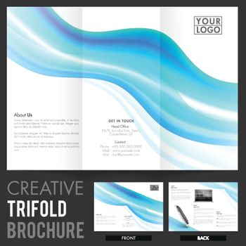 Two Page Tri-Fold Brochure, Template for Business.