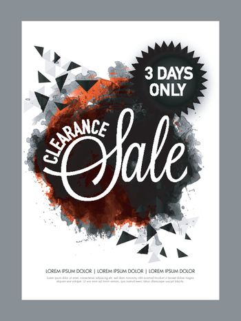 Abstract Clearance Sale poster, banner design.