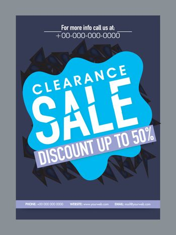 Clearance Sale and Discount poster, banner.