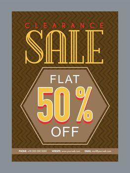 Clearance Sale poster, banner or flyer design.