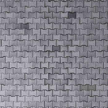 huge tiled cobblestone ground texture 3d illustration