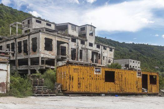 remnants of coal silo in Štalije, Istra, Croatia