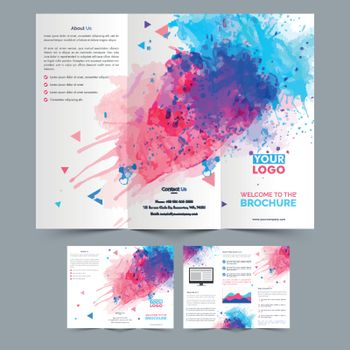Abstract Tri-Fold Brochure design for Business.