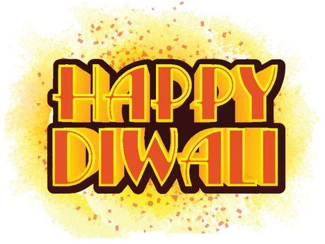 Typographical Background for Diwali Celebration.