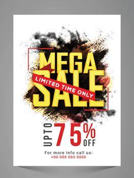 Mega Sale Flyer, Banner, Poster or Pamphlet.