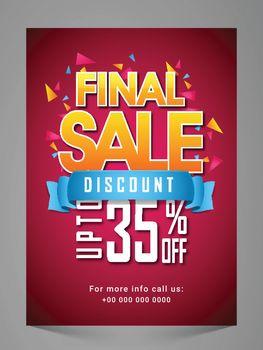 Final Sale Flyer, Banner, Pamphlet or Poster.