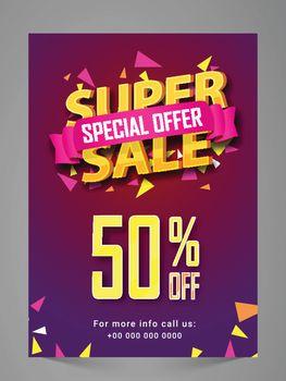 Super Sale Flyer, Poster, Banner or Pamphlet.
