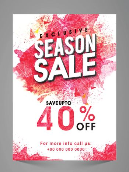 Exclusive Seasonal Sale Flyer, Banner.