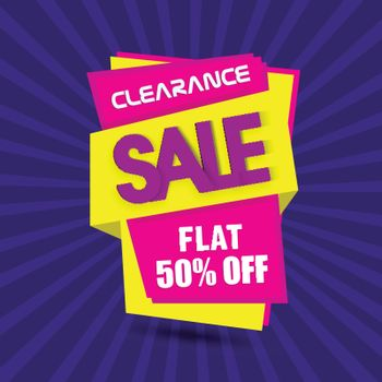 Clearance Sale Banner or Paper Tag.