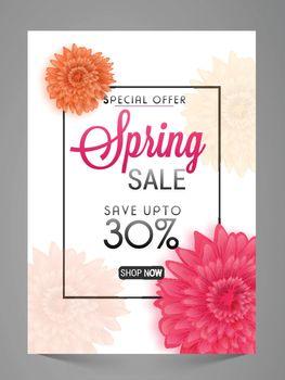 Spring Sale Poster, Banner, Flyer or Pamphlet.