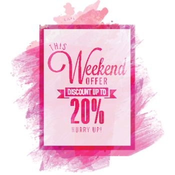 Weekend Sale Flyer or Banner.