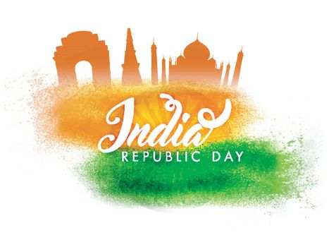 Indian Monuments for Republic Day celebration.