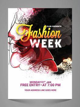 Fashion Week Flyer, Banner, Pamphlet or Poster.
