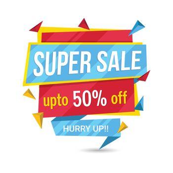 Super Sale Paper Tag or Banner.