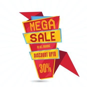 Mega Sale Tag or Banner.