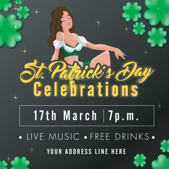 St. Patrick's Day celebration Invitation Card design.