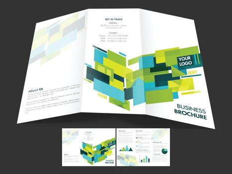 Modern Tri-Fold Brochure, Template for Business.