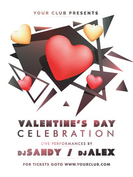 Flyer or Banner for Valentine's Day Celebration.