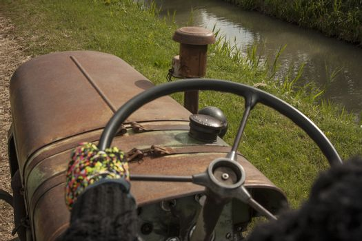 Driving The agricultural Tractor