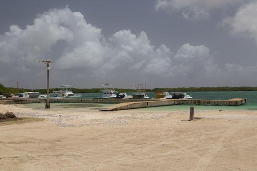sea beach coast tropical Bonaire island Caribbean sea
