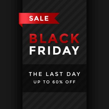 Black friday sale banner template design. vector illustration